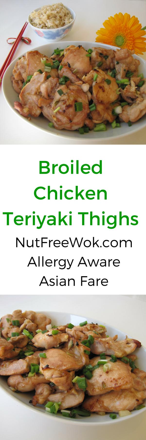 Broiled Chicken Teriyaki Thighs Nut Free Wok