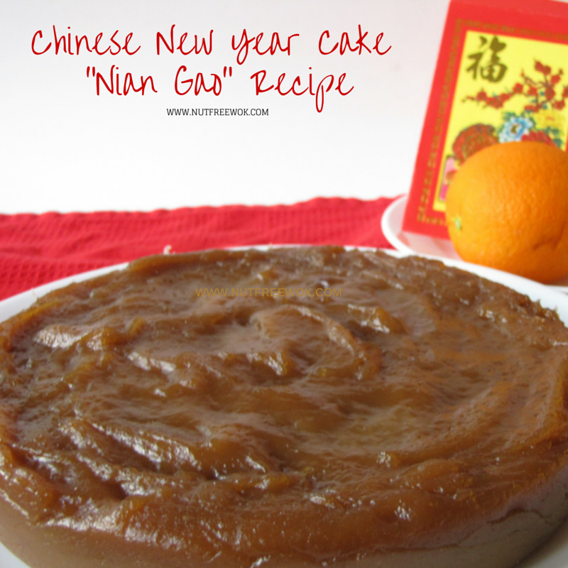 Chinese New Year Cake Nian Gao Recipe Nut Free Wok