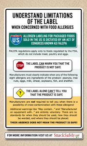 snack safely label graphic