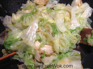 Stir fry lettuce with oyster sauce 2
