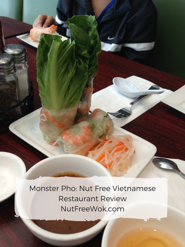 monster pho nut free wok spring roll
