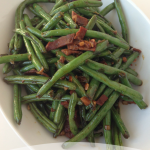 Easy & Low-Fat Chinese Green Beans with Turkey Bacon Recipe