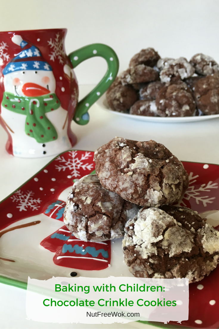 Baking with Children: Chocolate Crinkle Cookies Recipe - Nut Free Wok