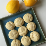 Lemon Vanilla Crinkle Cookies Recipe