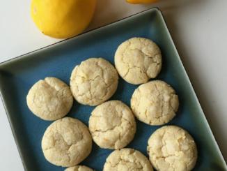 Lemon Vanilla Crinkle Cookies Nut Free Wok