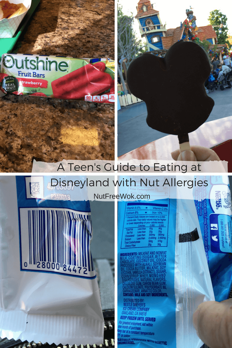 frozen treats snack cart teen guide disneyland nut allergy