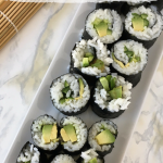 Easy and Allergy Friendly Cucumber and Avocado Sushi Rolls