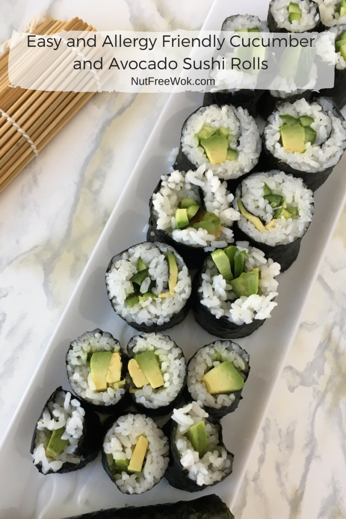 Easy and Allergy Friendly Cucumber and Avocado Sushi Rolls ...