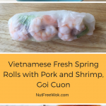 Vietnamese Fresh Spring Rolls with Pork and Shrimp