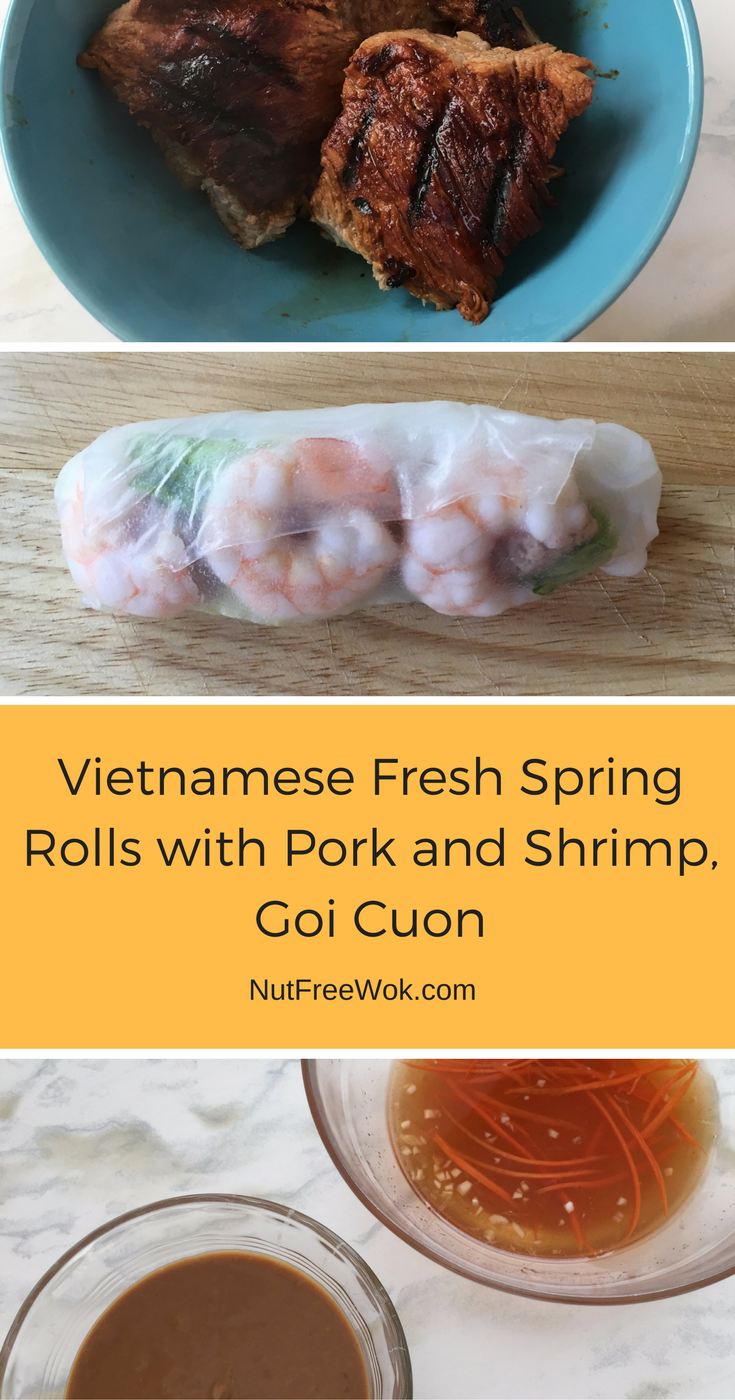 Vietnamese Fresh Spring Rolls with Pork, Shrimp and dipping sauces