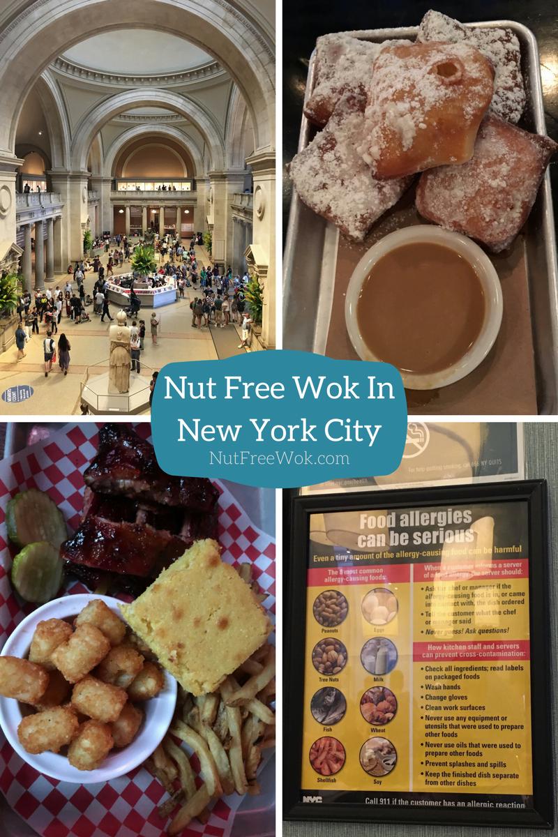 Nut Free Wok in NYC met blue smoke beignet bbq