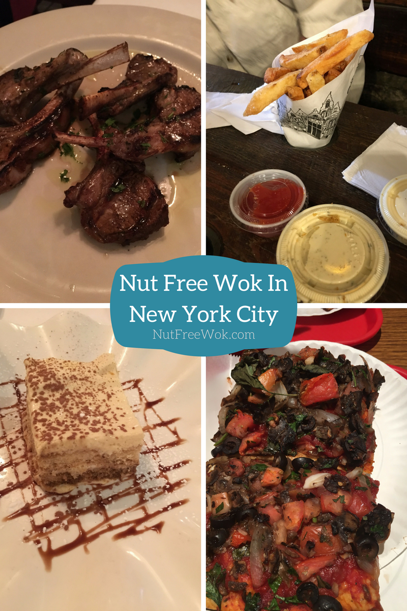 Nut Free Wok NYC Monte Pomme Frite Pizza Suprema