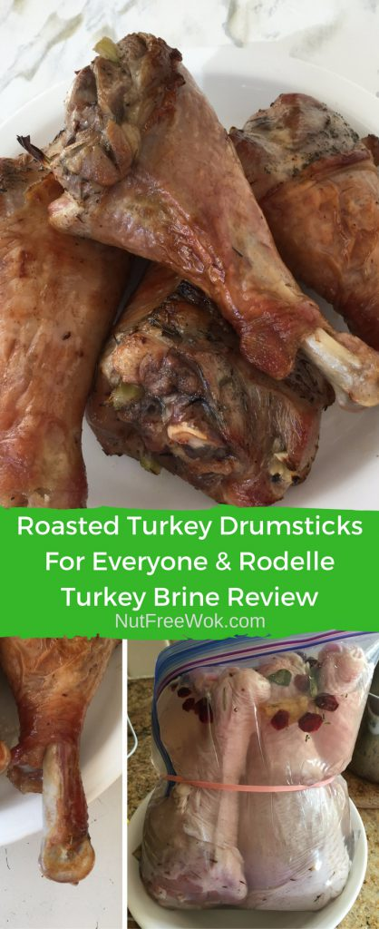 Roasted Turkey Drumsticks, ready when bone exposed, and brined drumsticks