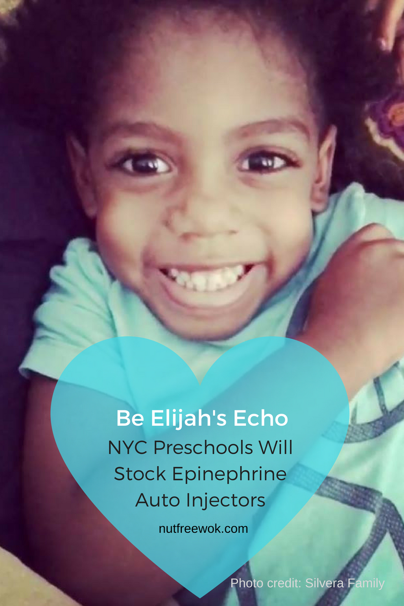 Elijah's Echo. Elijah Silvera was a precious preschooler with a milk allergy who died after eating a grilled cheese sandwich.