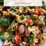 Pasta with Chicken Sausages, Tomato & Brie Recipe